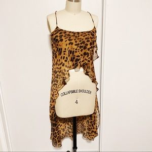 Unif Cheetah Print High Low Camisole Top Tank